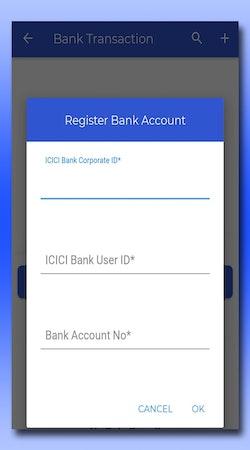 EZOTO bank account registration screenshot