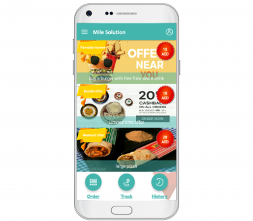 Mile white-labeled mobile application