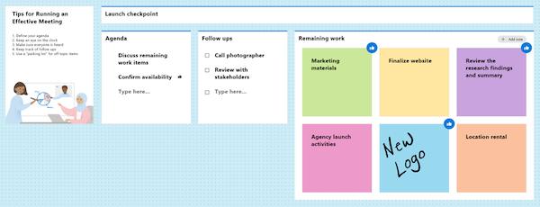 Microsoft Whiteboard custom templates
