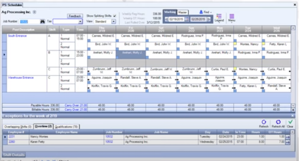 WinTeam workforce scheduling