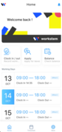 Workstem mobile interface