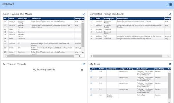 eQCM XD training records