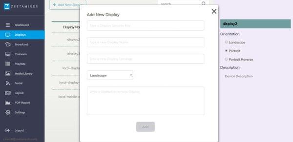 Zeetaminds add new display