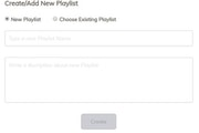Zeetaminds create new playlist
