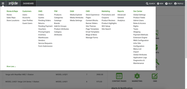 Znode administration console