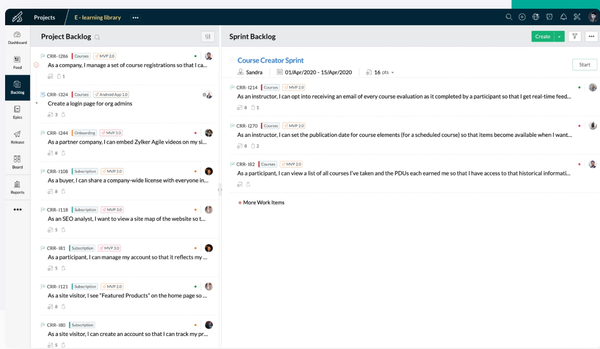 Zoho One project management