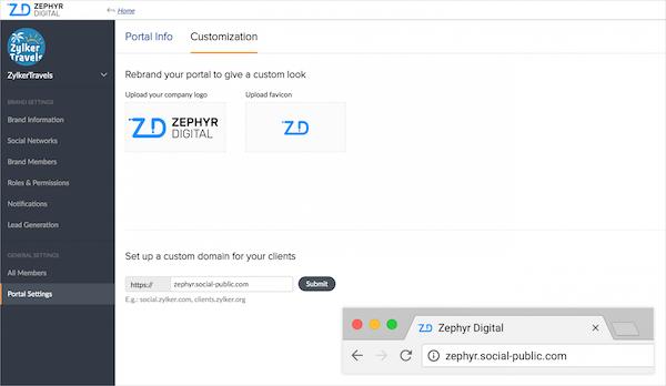 Zoho social for agencies