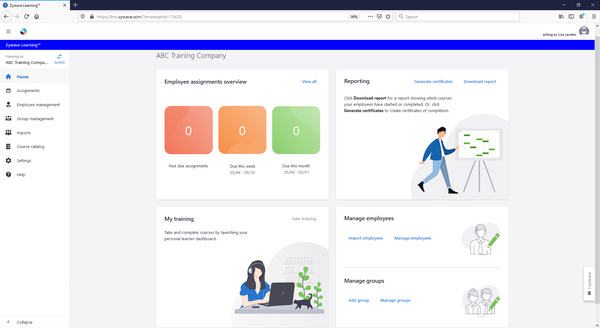 safety360 learning dashboard