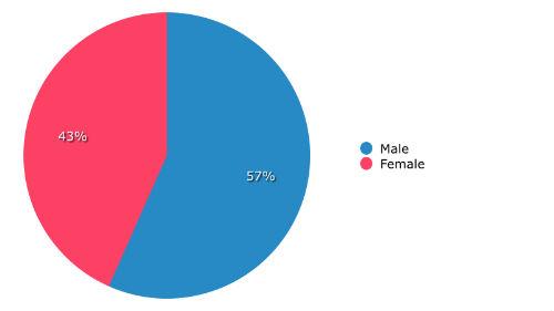 Demographics by gender
