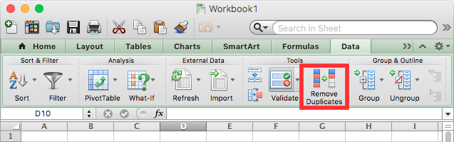 microsoft excel de-duping