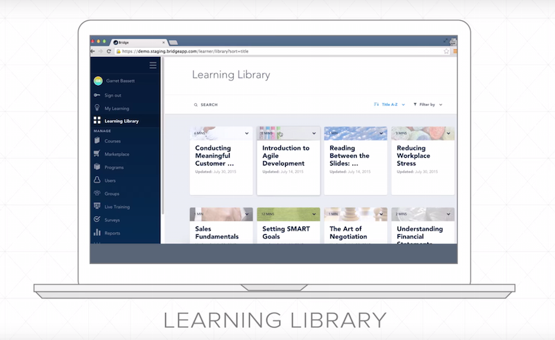 bridge lms learning library