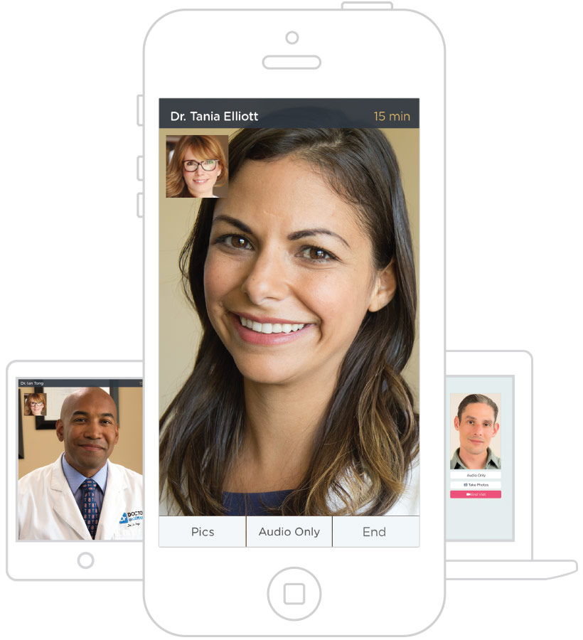 Doctor on Demand interface for video consultations