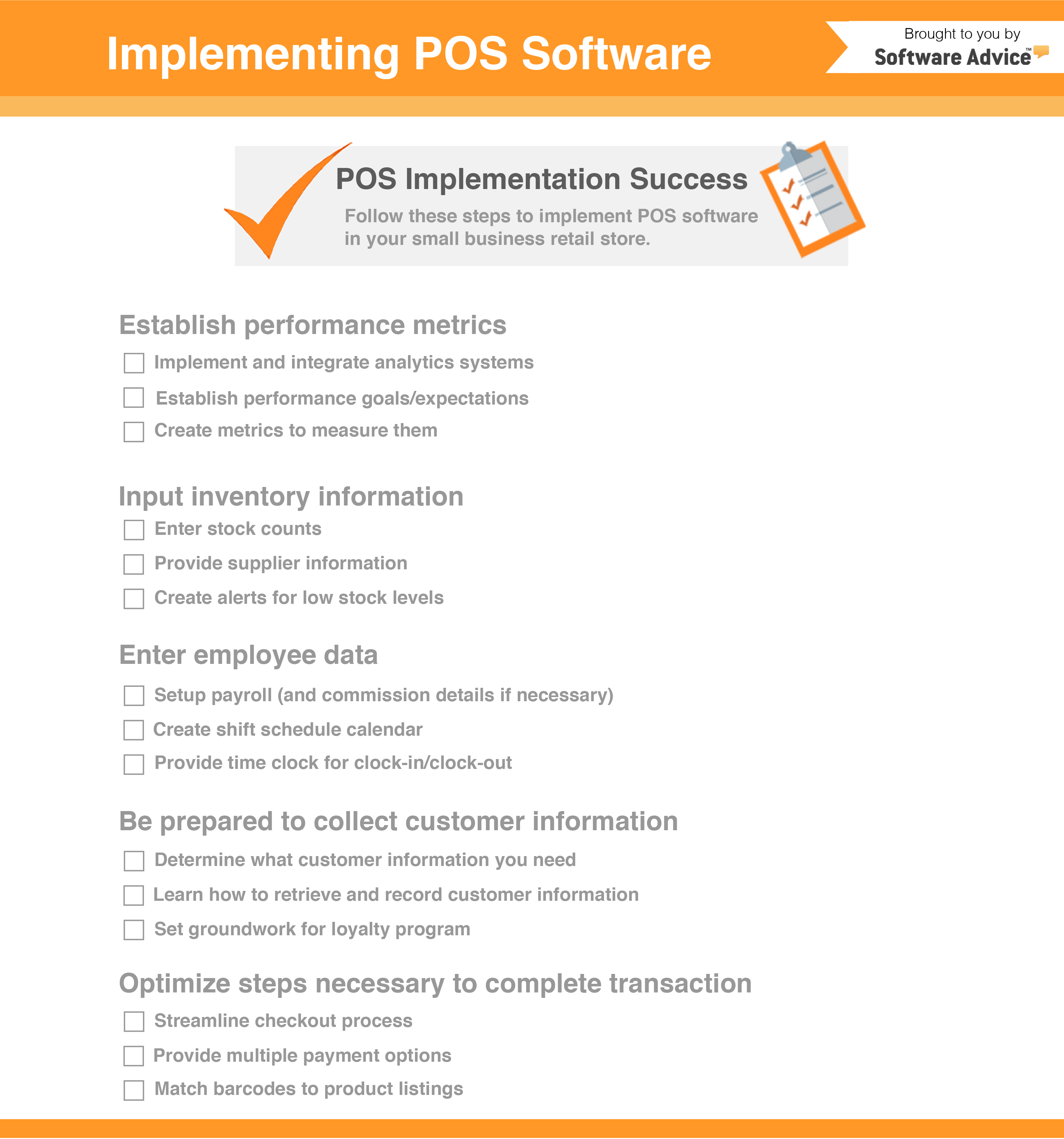Checklist: POS Implementation Guide for Retailers Opening Shop