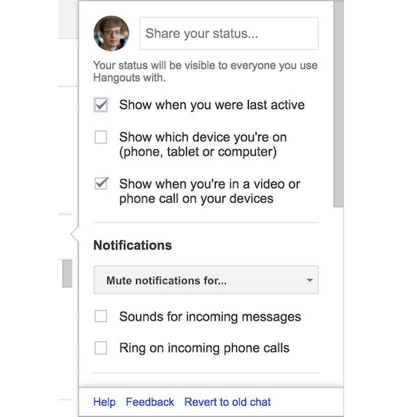 google hangouts presence