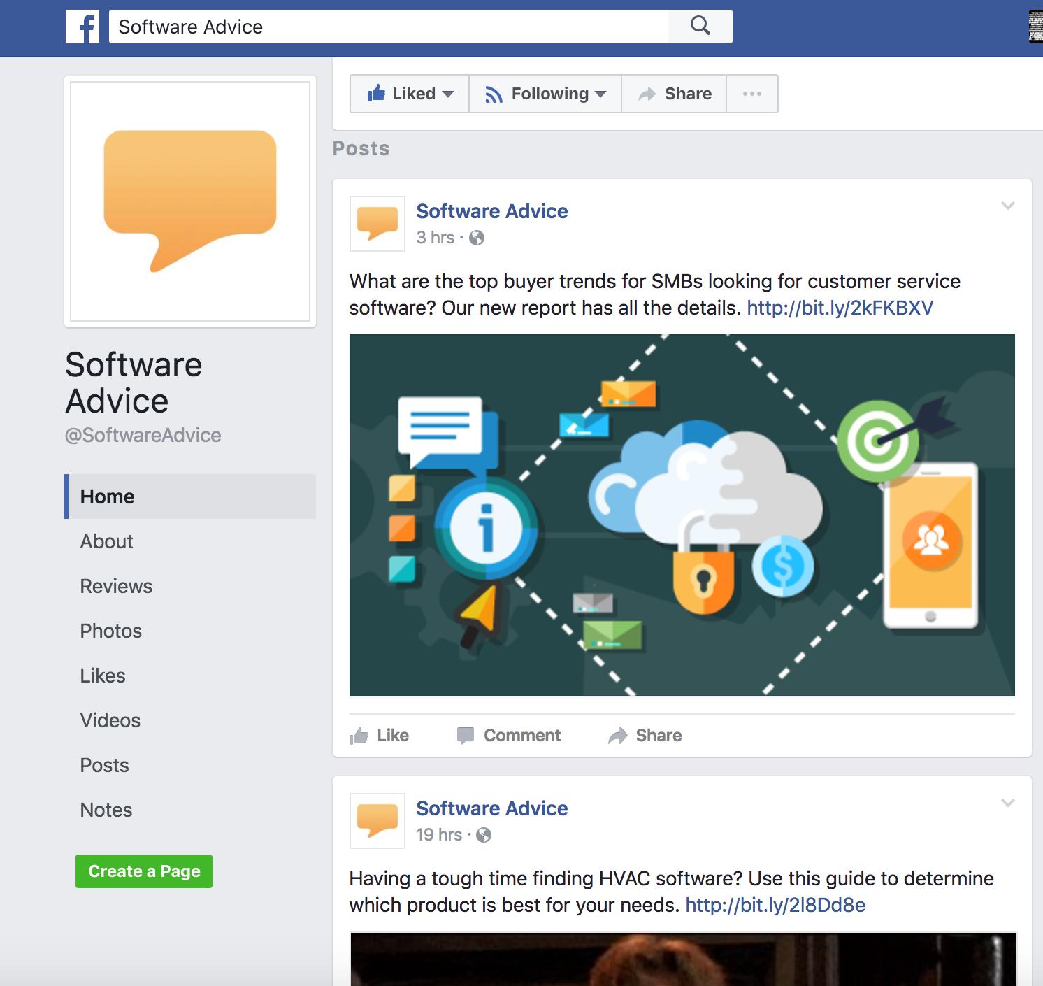 software advice facebook
